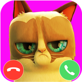 Angela Cat fake call prank icon