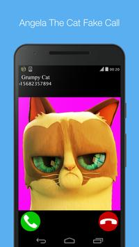 Angela Cat fake call prank apk screenshot