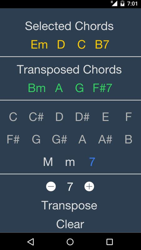 Chord Transposer APK Download - Free Music & Audio APP for Android ...