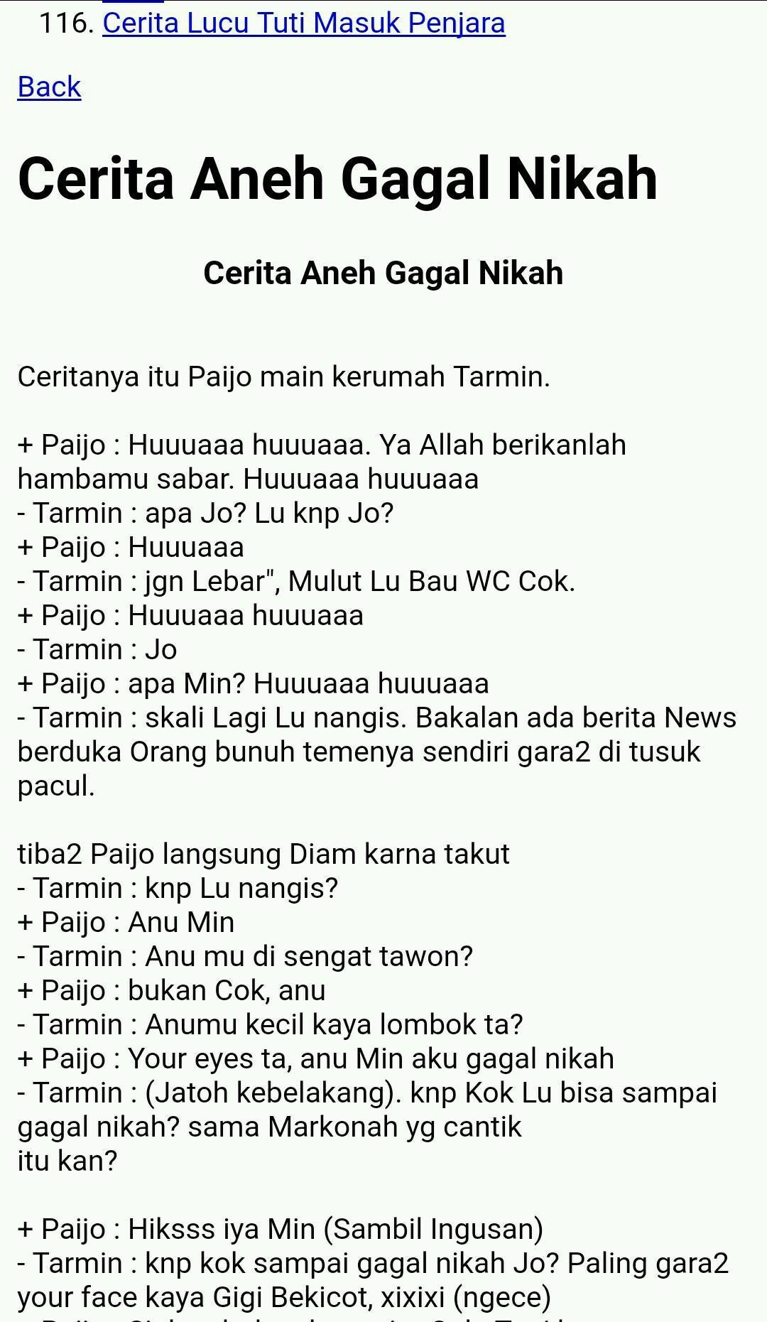 Cerita Dijamin Lucu Gokil For Android APK Download