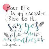 Inspiring quote life icon