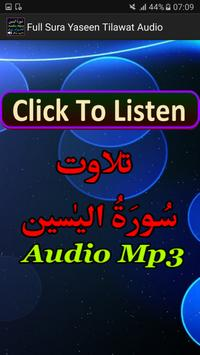Full Sura Yaseen Tilawat Mp3 apk screenshot