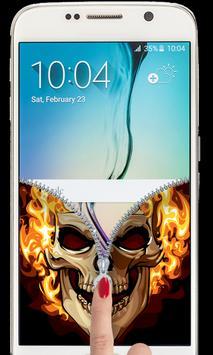 Fire Skull Zipper Lockscreen 2018 apk screenshot