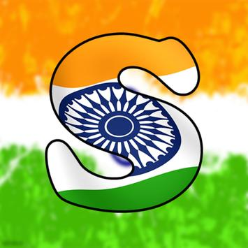 TriColoured Indian Flag HD Letters Wallpaper Poster