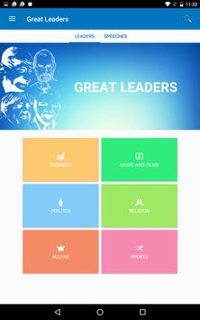 GREAT LEADERS AND SPEECHES apk screenshot