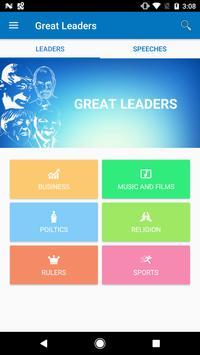 GREAT LEADERS AND SPEECHES poster