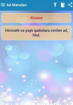 Adlar və Mənaları apk screenshot