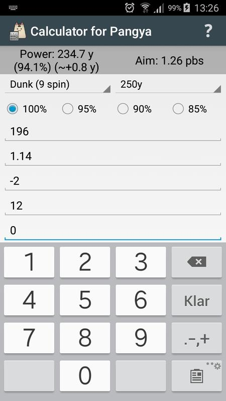 Calculator for pangya for android apk download.