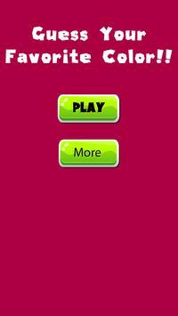 My Favorite Color - Play Super gametime Quiz poster