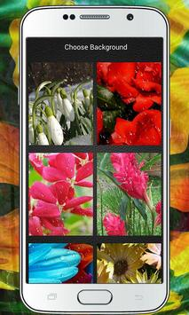 Flower Zipper Lock Screen poster