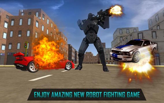 Futuristic Car robot war 2017 poster