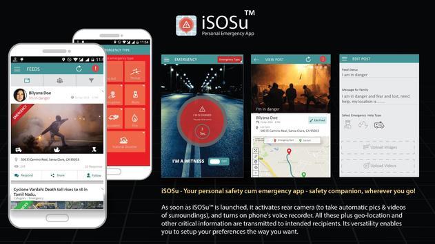iSOSu™: Personal Emergency App poster