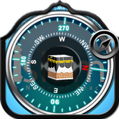 Islamic compass qibladirection icon