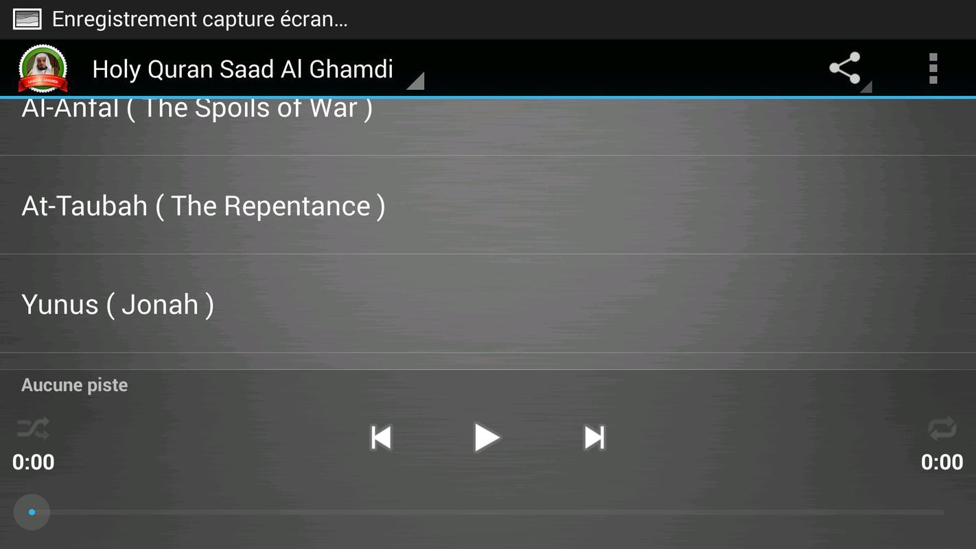 Saad al-ghamdi full quran mp3 for android apk download.