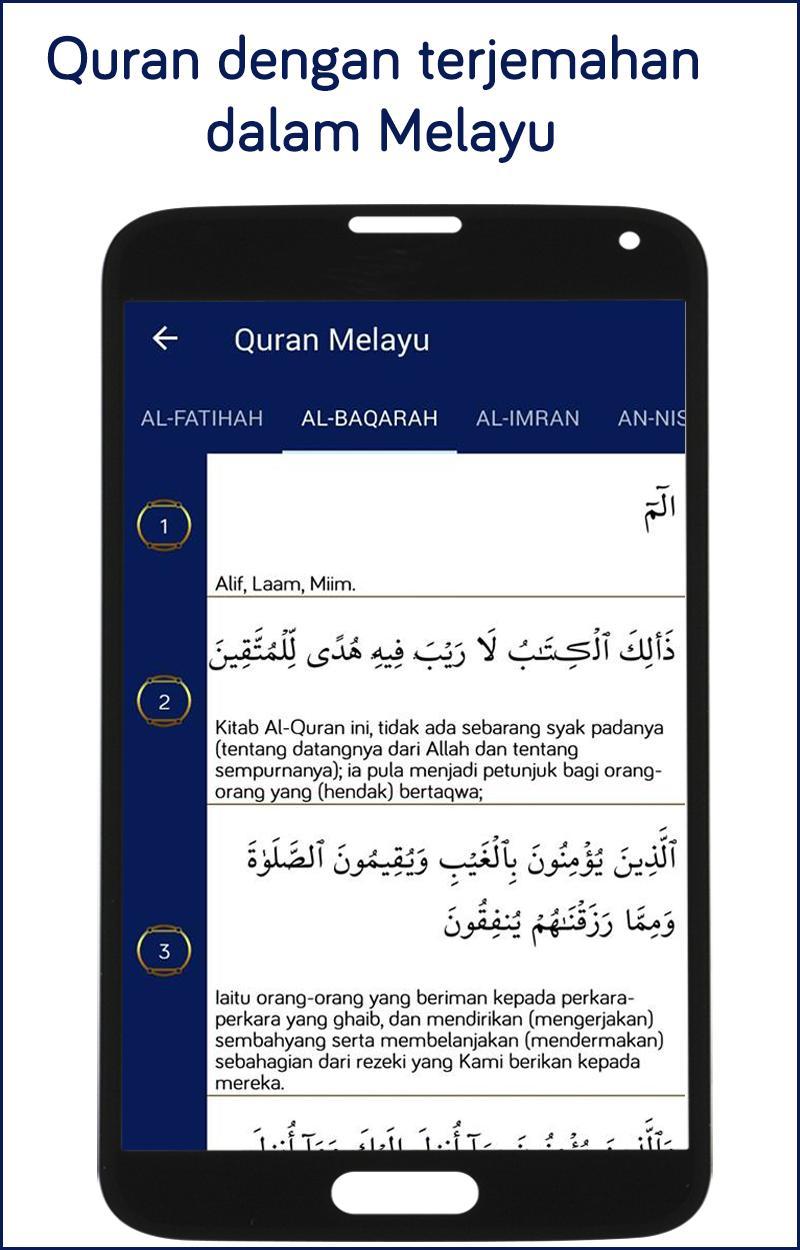 Al Quran Bahasa Melayu Mp3 Terjemahan Al Quran For Android Apk Download