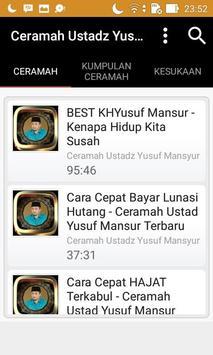Ceramah Ustad Yusuf Mansyur screenshot 10