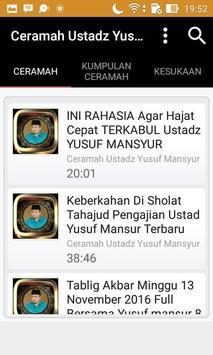 Ceramah Ustad Yusuf Mansyur screenshot 1