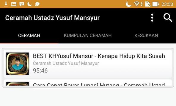 Ceramah Ustad Yusuf Mansyur screenshot 9