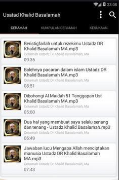 Ceramah Ustad Khalid Basalamah screenshot 4