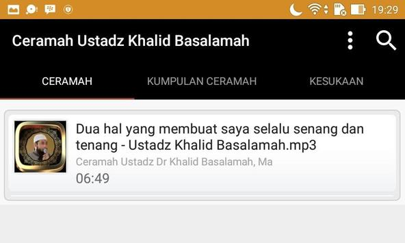 Ceramah Ustad Khalid Basalamah screenshot 3