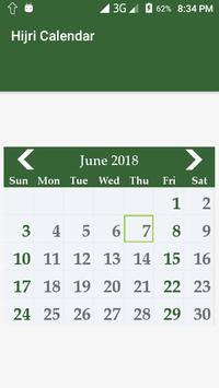 hijri calendar islamic date screenshot 1