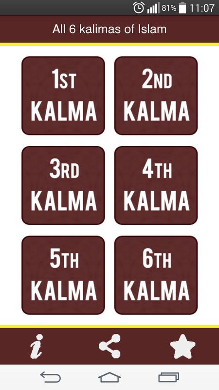 All Six Kalmas App Muslim App For Android Apk Download