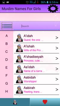 Muslim Names for Girls poster