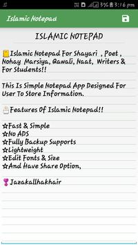 Islamic Notepad poster