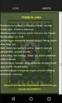 Primbon tradisi Jawa apk screenshot