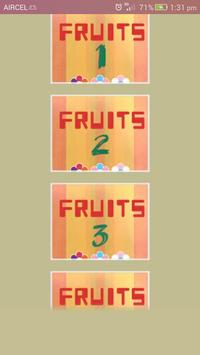 Names of Fruits and Vegetables poster