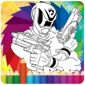 How To Color Power Ranger icon