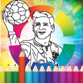 coloring Stars ball football icon