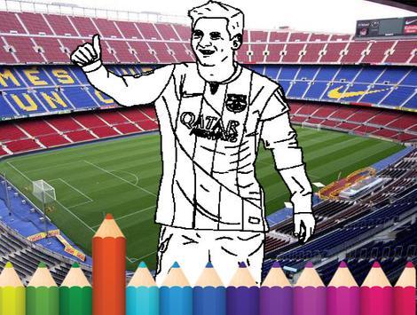 coloring Stars ball football poster