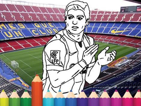 coloring Stars ball football apk screenshot
