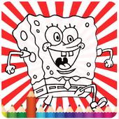 coloring Spogebober icon