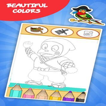 coloring ninja hatori games screenshot 8