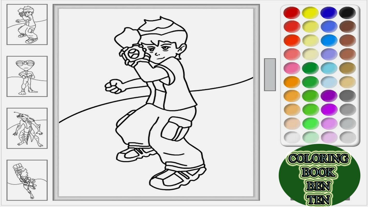 Coloring Ben Ten Games Apk Screenshot