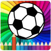 coloring football icon