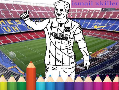 coloring football poster