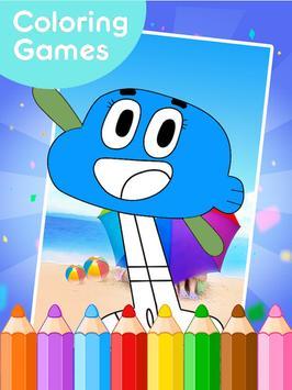 coloring gumball games apk screenshot