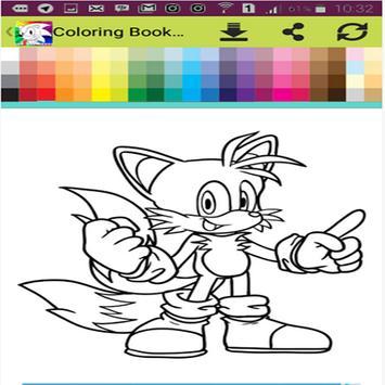 coloring sonic apk screenshot