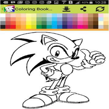 coloring sonic poster