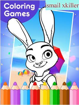 coloring zootopya games poster