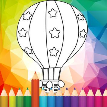 coloring Hot Air Balloon screenshot 4