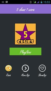 5 CLUES ADDICT poster