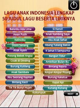 Kumpulan Lagu Anak Indonesia Lengkap Dengan Lirik screenshot 8