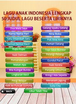 Kumpulan Lagu Anak Indonesia Lengkap Dengan Lirik screenshot 9