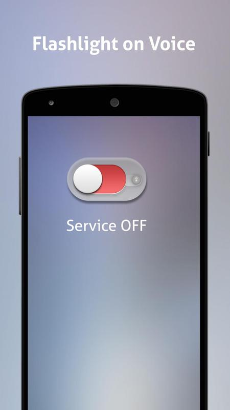 how to turn flashlight on android with voice