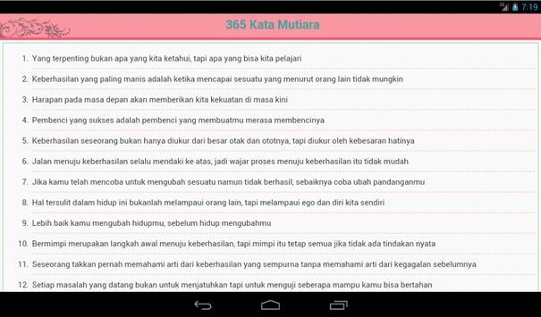 365 Kata Mutiara Bijak apk screenshot