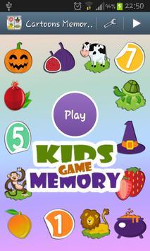 Cartoons Memory Kids Game poster